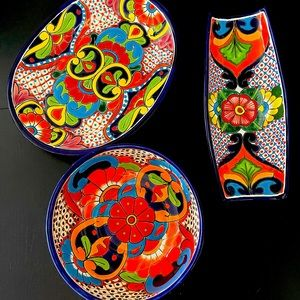 Serving Dish set of 3 - Handmade from Mexico